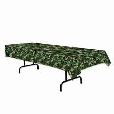 """1 CAMOUFLAGE Army Camo Print Party Decoration TABLE COVER Tablecover 54"""" x 108"""""""