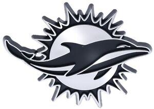 Miami Dolphins NFL Car Truck Automotive Grill Emblem Chrome Finish F3D14E