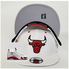 New Era Chicago Bulls White  Snapback Hat Jordan 14 RIP Hamilton