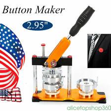 75mm(2.95'') Button Badge Maker Press Machine 100Pcs Pin Buttons Bags Key Chains