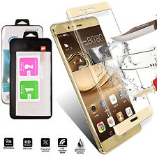 Gold FULL 3D Tempered Glass Screen Protector Shockproof For Huawei P10 Lite