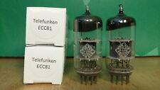 Pair of Telefunken 12AT7 ECC81 Angled Getter Vacuum Tubes - 8% matched