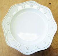 FOOD NETWORK FONTINELLA SALAD PLATE WHITE EXCELLENT CONDITION I HAVE MORE