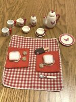 Madeline Old House in Paris TEA PARTY PLAY SET DISHES PICNIC Eden Accessories