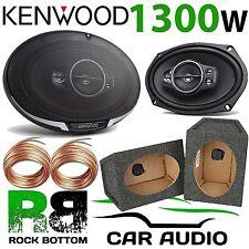 KENWOOD 1300 Watts a Pair 5-Way CAR VAN Speakers & 6x9 GREY Pod Box KFC-PS6995