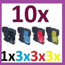 10x für Brother DCP195C DCP165C DCP375CW MFC250C MFC255CW MFC490CW DCP-585CW