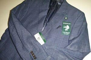 lauren ralph lauren mens ultraflex two button sports coat blazer suit jacket-40L