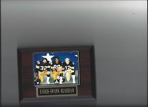 FRANCO HARRIS LYNN SWANN TERRY BRADSHAW PLAQUE PITTSBURGH STEELERS FOOTBALL NFL