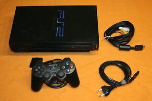 Sony Playstation 2 schwarz SCPH-30004 inkl Controller und Kabel