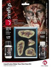 Liquid Latex Halloween FX Zombie Make Your Own Fake Scars Make Up Kit With Tray