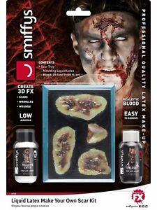 Flüssiger Latex Halloween Fx Zombie Make Ihre Eigenen Falsche Scars -up Set Mit