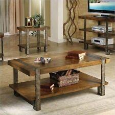 Industrial Coffee Table Rustic Farmhouse Reclaimed Wood Vintage Metal Legs Frame