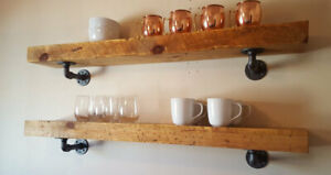 RECLAIMED Railway Sleeper - Rustic Shelves Any Size - Chunky Timber Shelves