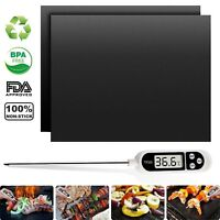 [Heavy Duty] FDA Approved BBQ Grill Mats Cooking Thermometer For BBQ Grilling US
