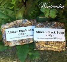 200g(100g X2)- Natural Raw African Black Soap - Organic -Premium Quality - Ghana