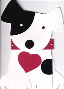 PAPYRUS VALENTINES CARD NIP MSRP $5.95 DOG CUT-OUT CARD (N22)
