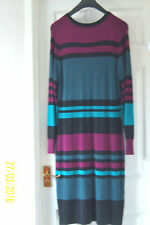 Viscose Long Sleeve Midi Striped Dresses for Women