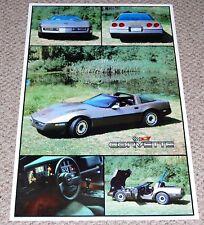 CORVETTE C4 Gray Silver Collage Sports Car Poster 1983 AA Graphics Garage Shop