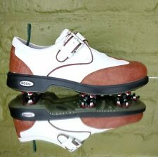 ecco golf shoe 38 Eu womens 7to7.5 Us brown white 38713 arch support comfort 1-1