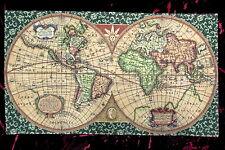 Tapis de mur Tapisserie Vieux Map Carte Carte du monde ancien 117 x 69