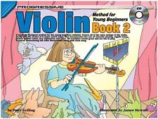 PROGRESSIVE VIOLIN METHOD FOR YOUNG BEGINNERS BOOK 2 with CD - CHILDREN'S BOOK