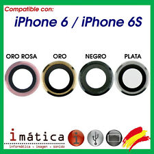 CRISTAL DE CAMARA PARA IPHONE 6  / 6S  4.7 LENTE TRASERA GRIS PLATA ORO ROSA