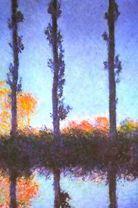 Claude Monet Poplars Poster 12x18 inch