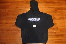 NEW SUPREME FW17 REFLECTIVE EXCELLENCE  HOODED SWEATSHIRT LARGE NAVY box nas