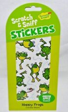 PEACEABLE KINGDOM 16 SCRATCH N' SNIFF -GREEN APPLE SCENTED- HAPPY FROG STICKERS-