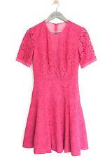 """Whistles femme rose """"WINONA"""" dentelle robe * UK 6/EU 34/US 2 * Bnwt * RRP £ 250 *"""