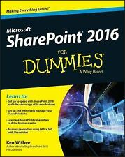 NEW SharePoint 2016 for Dummies by Ken and Rosemarie Withee (2016, Paperback)