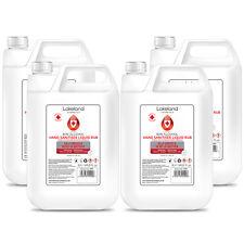 80% Alcohol Hand Sanitiser Liquid Rub 5L Litre x4 Kills 99% Bacteria, Sanitize