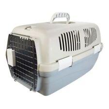 Piccolo Pet Carrier cestino da viaggio cassa Maniglia per il trasporto e porta Gatto Cane Coniglio in plastica