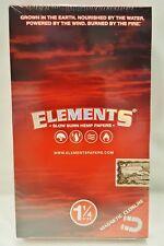 Box of 25 Elements Slow Burn Hemp 1 1/4 Sugar Gummed Rolling Papers 50 Per Pack