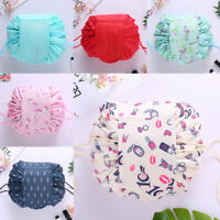 Women Travel Drawstring Cosmetic Make Up Storage Bag Organiser Toiletry Pouch