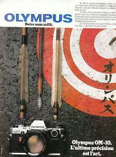 Publicité ancienne appareil photo olympus 1982 issue de magazine