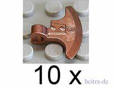 LEGO Ritter - 10 x Axtklinge mit Clip kupfer ( Copper ) / Axe Head 53705 NEUWARE