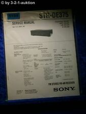 Sony Service Manual STR DE375 FM/AM Receiver (#5194)