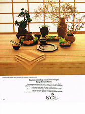 PUBLICITE ADVERTISING 024   1978   NYDEL  nappe art de la table exotique