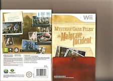 MYSTERY CASE FILES THE MALGRAVE INCIDENT NINTENDO WII HIDDEN OBJECT GAME
