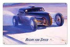 Hot Rod Drag Race Car Metal Sign Man Cave Garage Body Shop Club Tom Fritz TF043