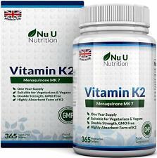 Vitamina K2 MK-7, 200 mcg | 365 Compresse | Scorta Per 1 Anno | Vegan | NO OGM