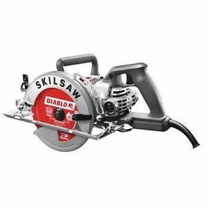 "SKILSAW SPT77W-72 7-1/4"" Worm Drive Circular Saw, Twist Lock-Diablo blade"