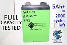 24V Lithium Battery FULLY TESTED 55%+ rem life BMS, K2 Energy K2B24V10EB LiFePO4