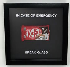 In Case Of Emergency Break Glass Chocolate Kit Kat Novelty Gift Frame