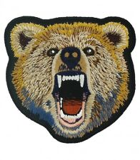 Brown Grizzly Bear Patch, Wild Animal Patches
