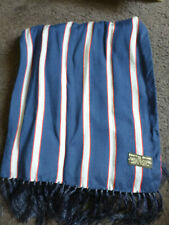 1960s Mens Vintage Dapper Tootal Mod Scooter Scarf blue red silvery striped