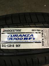 1 New 245 45 18 Bridgestone Turanza ER300 RFT Run Flat Tire