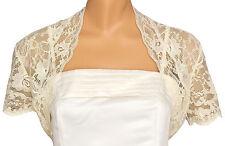 Ladies Ivory Lace Short Sleeve Bolero Shrug Sizes 6-30 20
