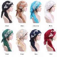 Fashion Muslim Women Beanie Turban Hat Head Scarf Wrap Chemo Bandana Hijab Cap